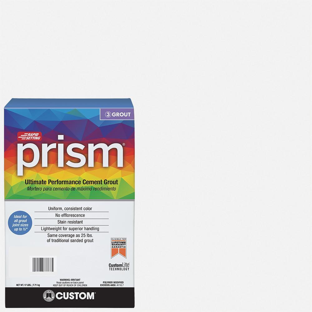 Prism #640 Arctic White 17 lb. Grout