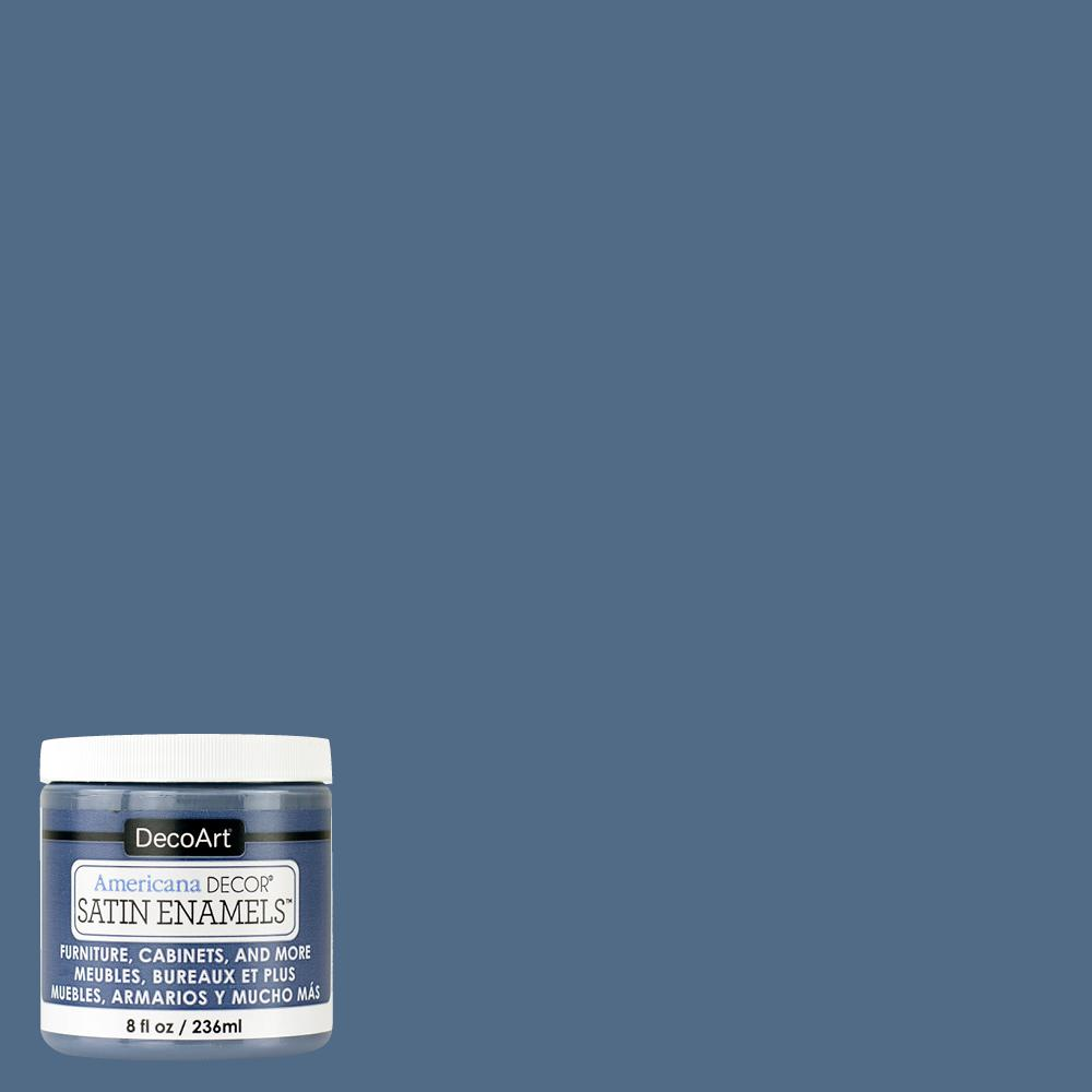 Americana decor 8 oz steel blue satin enamel paint adsa13 - What is satin paint ...