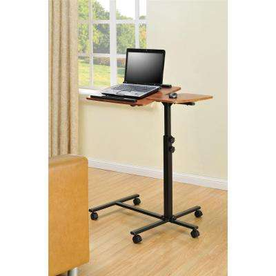 Altra Jacob Cherry Desk with Wheels