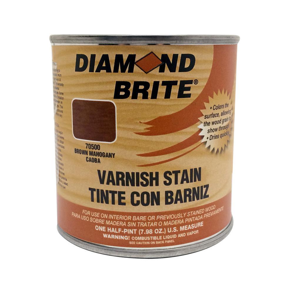 Diamond Brite Paint 1/2 pt. Brown Mahogany Oil-Based Interior Varnish Stain