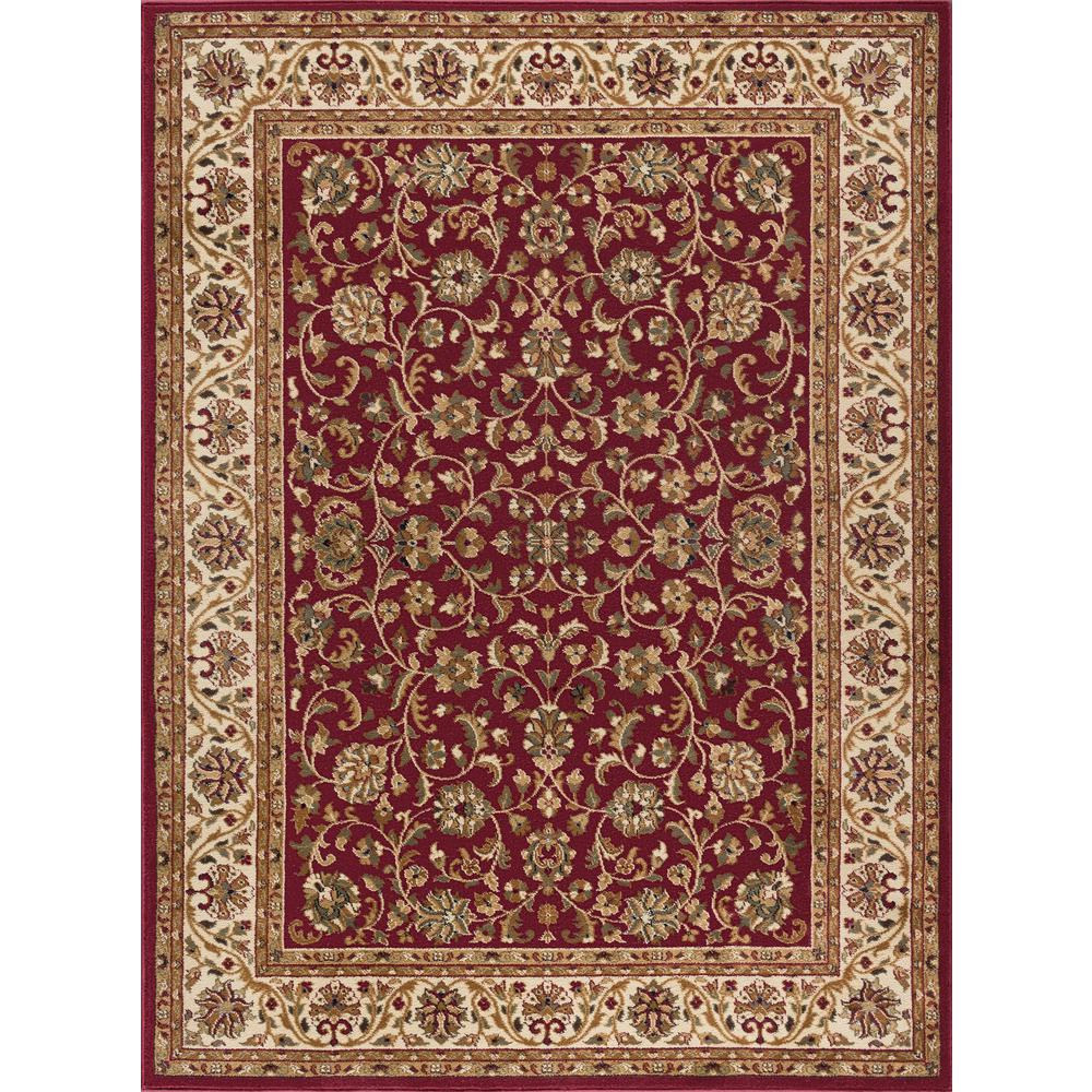 Gray Area Rug 8x11: Tayse Rugs Sensation Red 8 Ft. X 11 Ft. Transitional Area