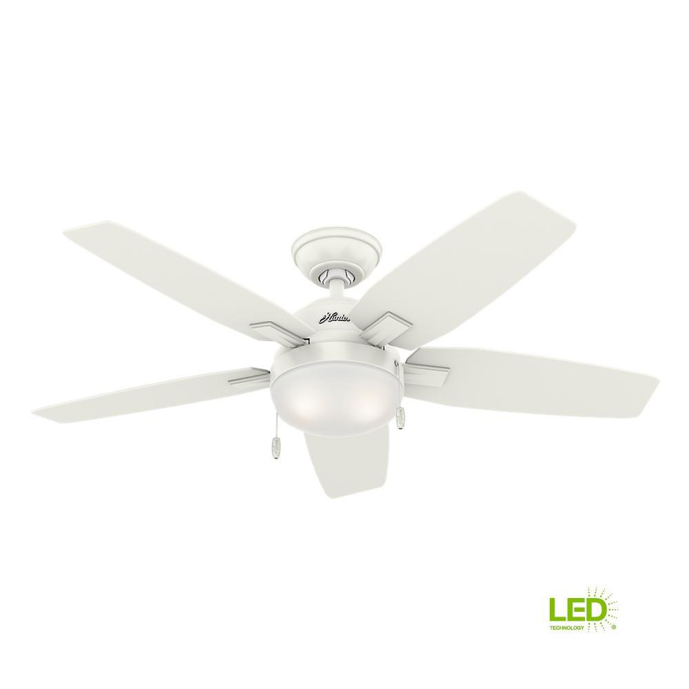 Hunter Antero 46 In Led Indoor Brushed Nickel Ceiling Fan With Electric Install Page 4 Fresh White Light