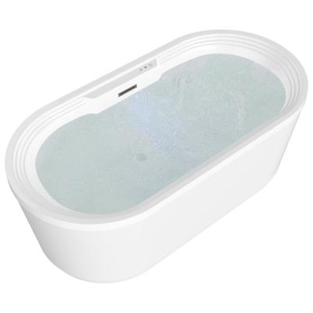 Jetson Series 67 in. Acrylic Flatbottom Air Bathtub in White
