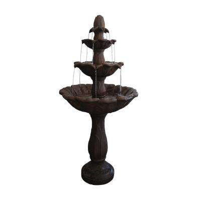 59 in. 3-Tier Pedestal Fountain
