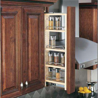 39 in. H x 3 in. W x 11.13 in. D Pull-Out Between Cabinet Wall Filler