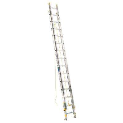 28 ft. Aluminum D-Rung Equalizer Extension Ladder with 225 lb. Load Capacity Type II Duty Rating