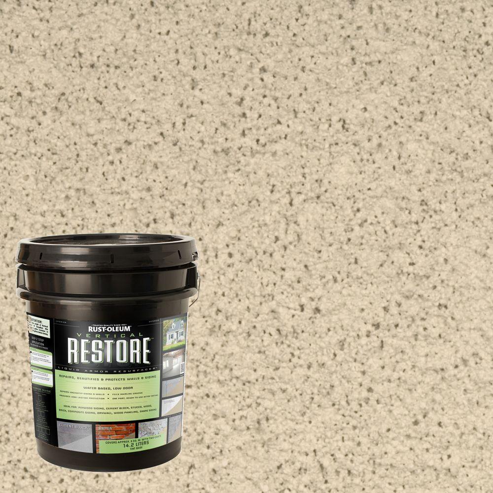 Rust-Oleum Restore 4-gal. Linen Vertical Liquid Armor Resurfacer for Walls and Siding