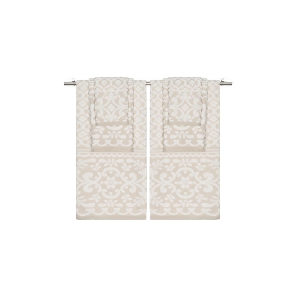 Caro Home Emma Ivory Sesame 6-Piece Towel Set 6S1008T1459