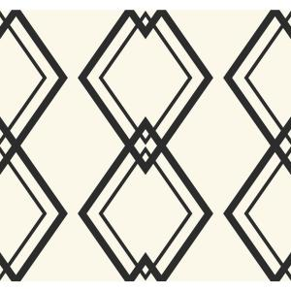 Diamond Link Black And White Geometric Wallpaper