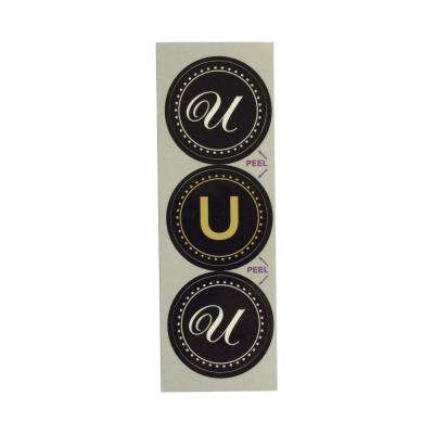 U Monogram Decorative Bathroom Sink Stopper Laminates (Set of 3)