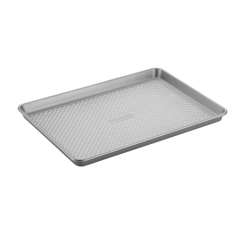 Cake Boss Professional Nonstick Bakeware 13 in. x 18 in. Jelly Roll Pan in Silver