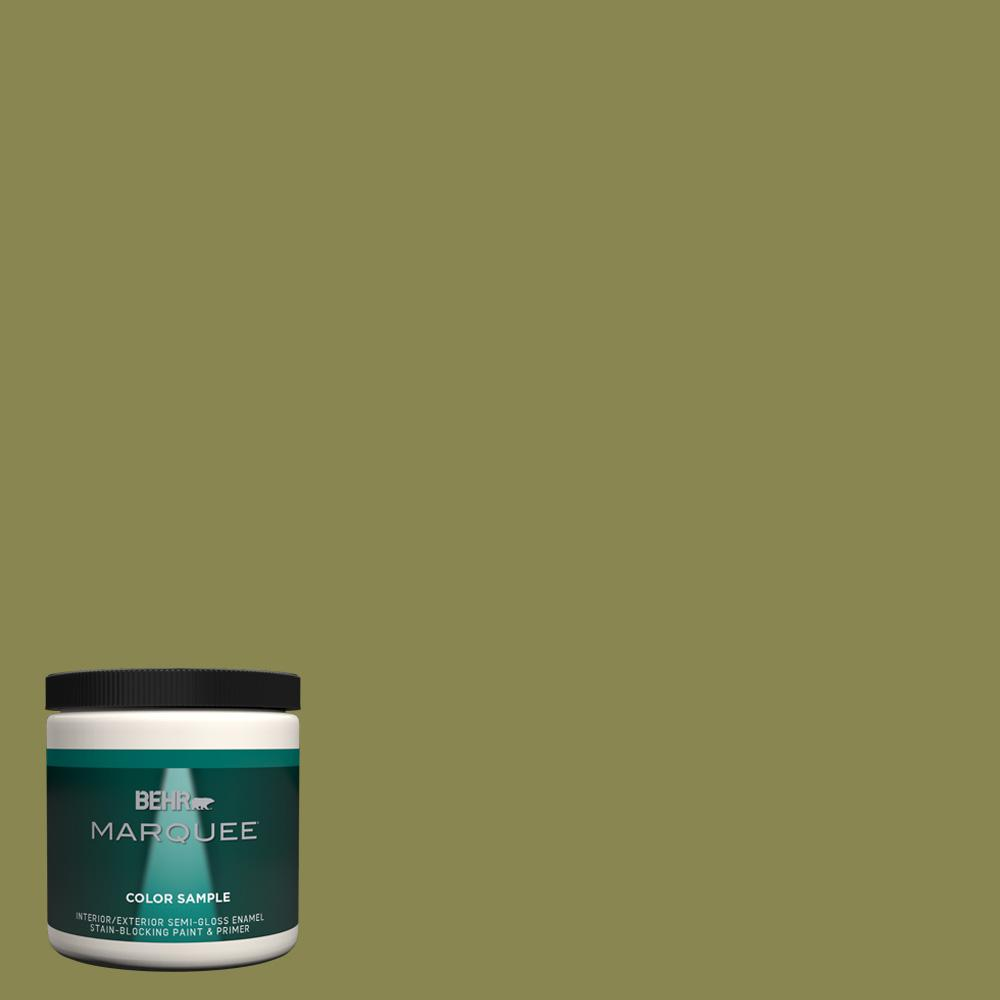 T15 18 Snap Pea Green Semi Gloss Enamel Interior Exterior Paint And Primer In One Sample