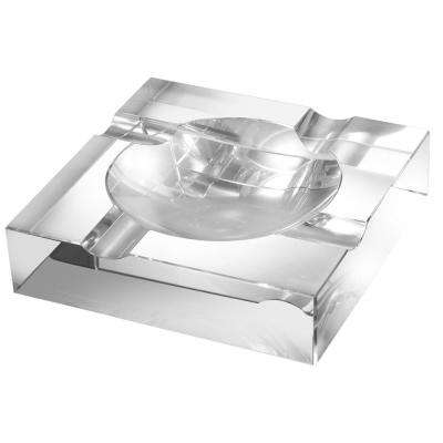 Ramses 7 in. Heavy-duty Crystal Cigar Ashtray with 4 Cigar Rests
