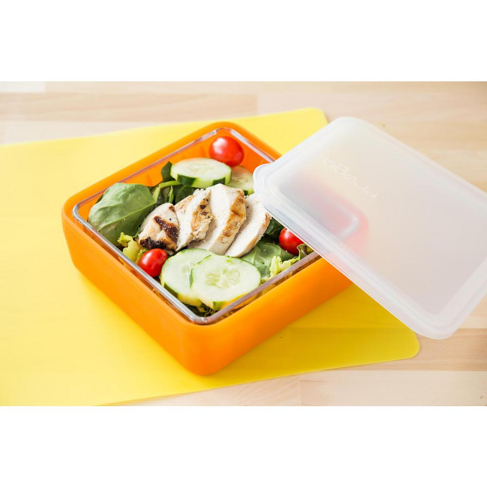 2-Cup Glass Food Storage Container with Lid