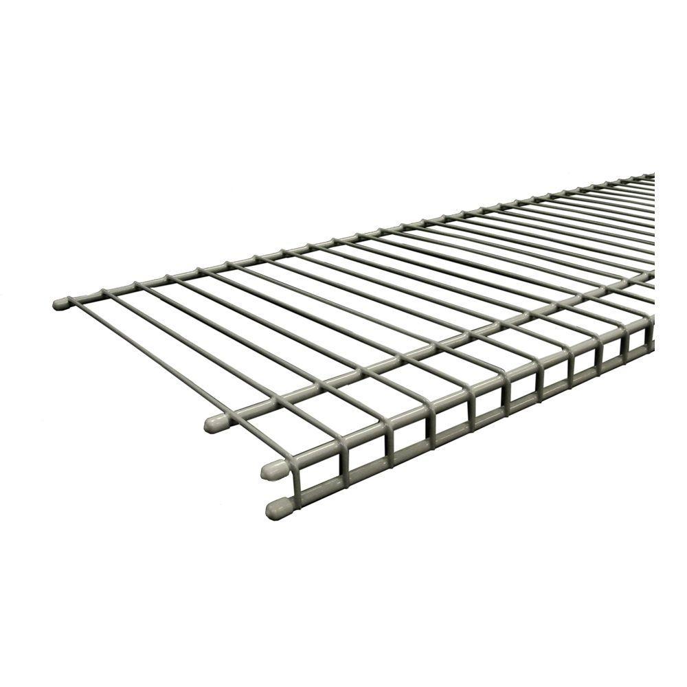 SuperSlide 96 in. W x 12 in. D Nickel Ventilated Wire Shelf