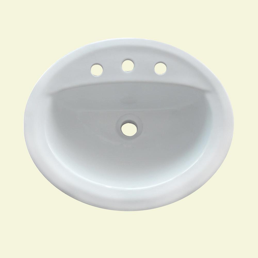 Under Mount Satin White Ceramic Sink 20.5 in. Single Bowl