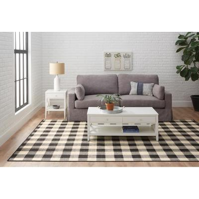 Collins Black/Ivory 7 ft. X 10 ft. Plaid Indoor/Outdoor Area Rug