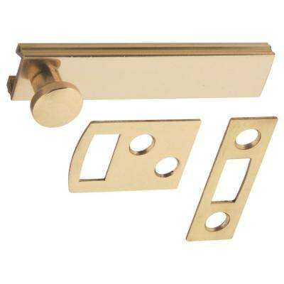 2-1/2 in. Bright Brass Solid Brass Surface Bolt