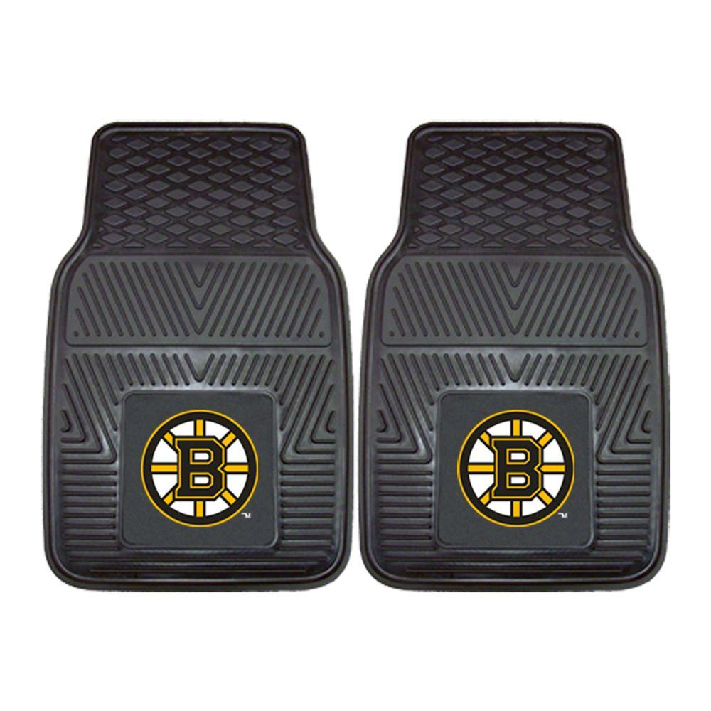 Boston Bruins 18 In. X 27 In. 2 Piece Heavy Duty Vinyl Car Mat, Black