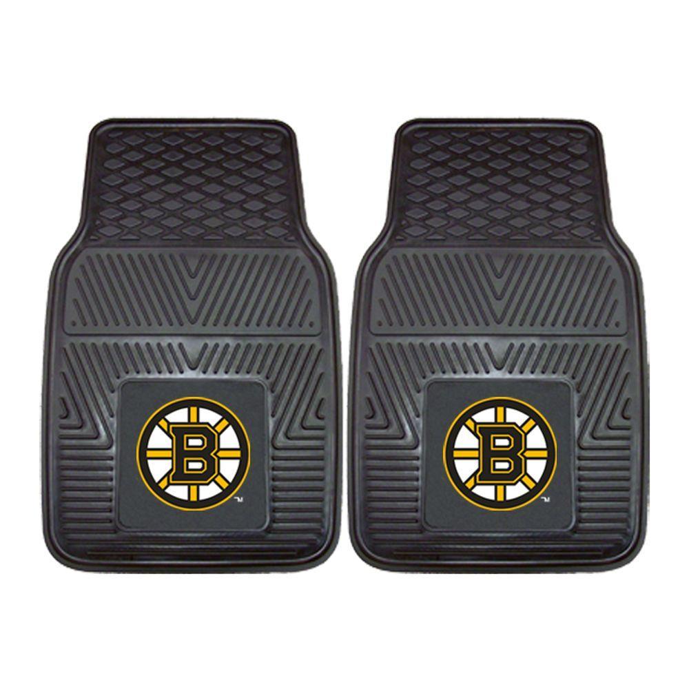 Boston Bruins 18 in. x 27 in. 2-Piece Heavy Duty Vinyl Car Mat