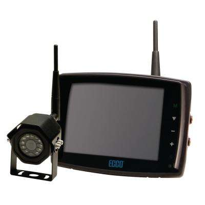5.6 in. LCD Color Monitor, 3 in. Square Camera, Wireless and Backup Camera Kit