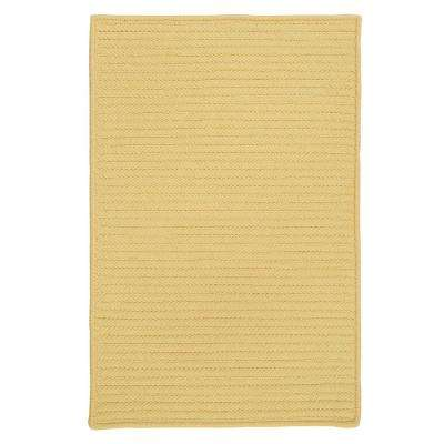 Solid Butter 3 ft. x 5 ft. Indoor/Outdoor Braided Area Rug