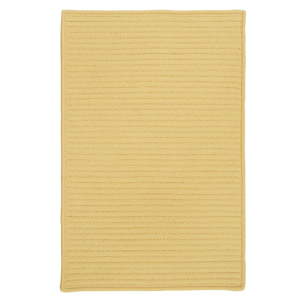 Solid Butter 7 ft. x 9 ft. Indoor/Outdoor Braided Area Rug