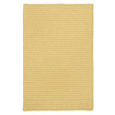 Solid Butter 8 ft. x 8 ft. Braided Indoor/Outdoor Area Rug
