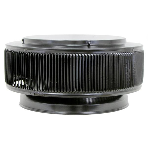 12 in. Dia Aura PVC Vent Cap Exhaust with Adapter for Schedule 40 or Schedule 80 PVC Pipe in Black