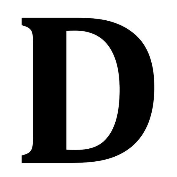 undefined 12.5 in. Metal Letter D Wall Plaque