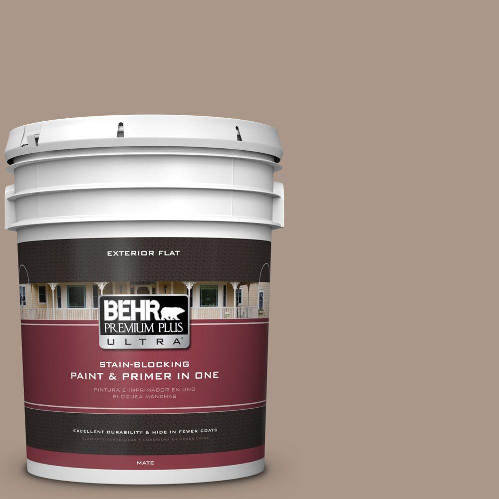 5-gal. #N230-4 Chic Taupe Flat Exterior Paint