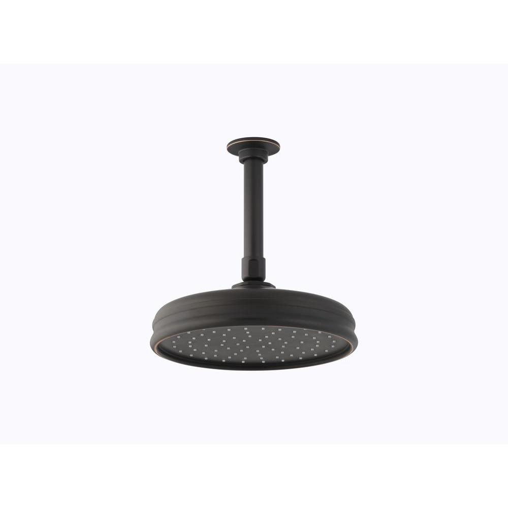 1-spray Single Function 8 in. Traditional Round Rain Showerhead with Katalyst