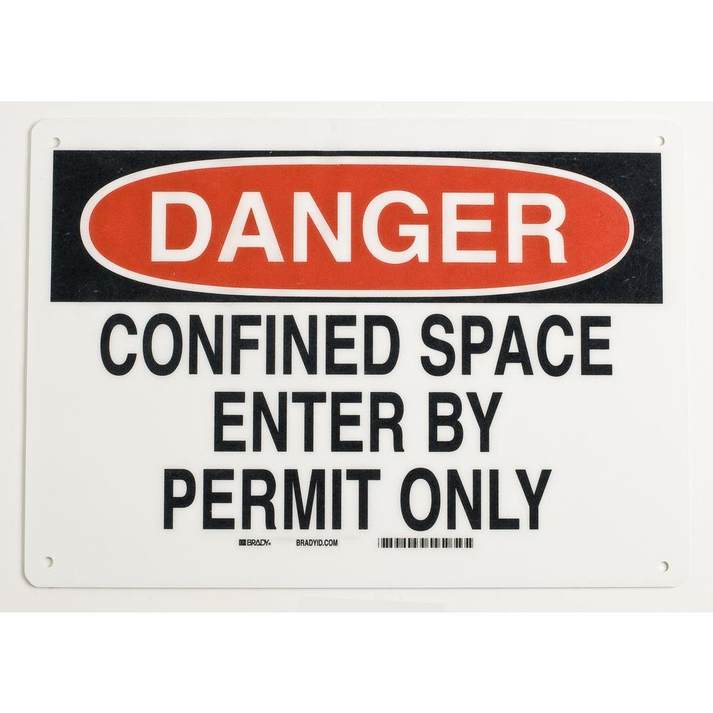 7 in. x 10 in. Aluminum Confined Space Sign