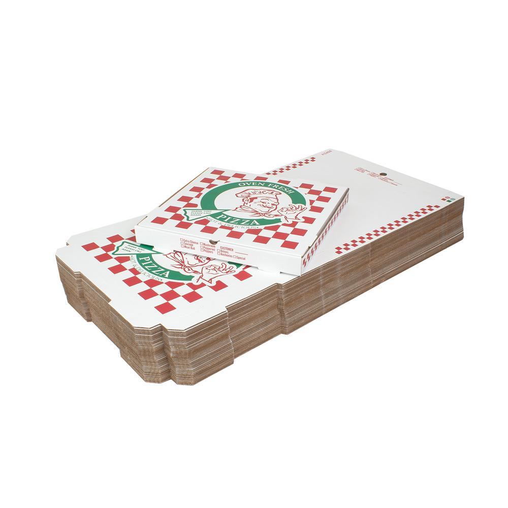18 in. Pizza Box (18 in. L x 18 in. W x 1 7/8 in. D) (100-Pack)