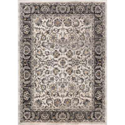 Amba Sonoma Beige 8 ft. x 10 ft. Traditional Distressed Area Rug