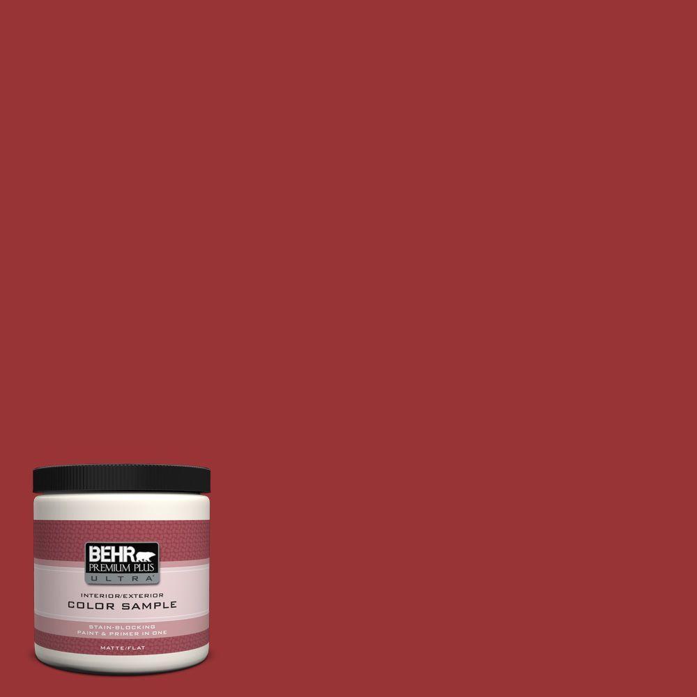 BEHR Premium Plus Ultra 8 oz. #ECC-10-3 Holly Berry Interior/Exterior Paint Sample