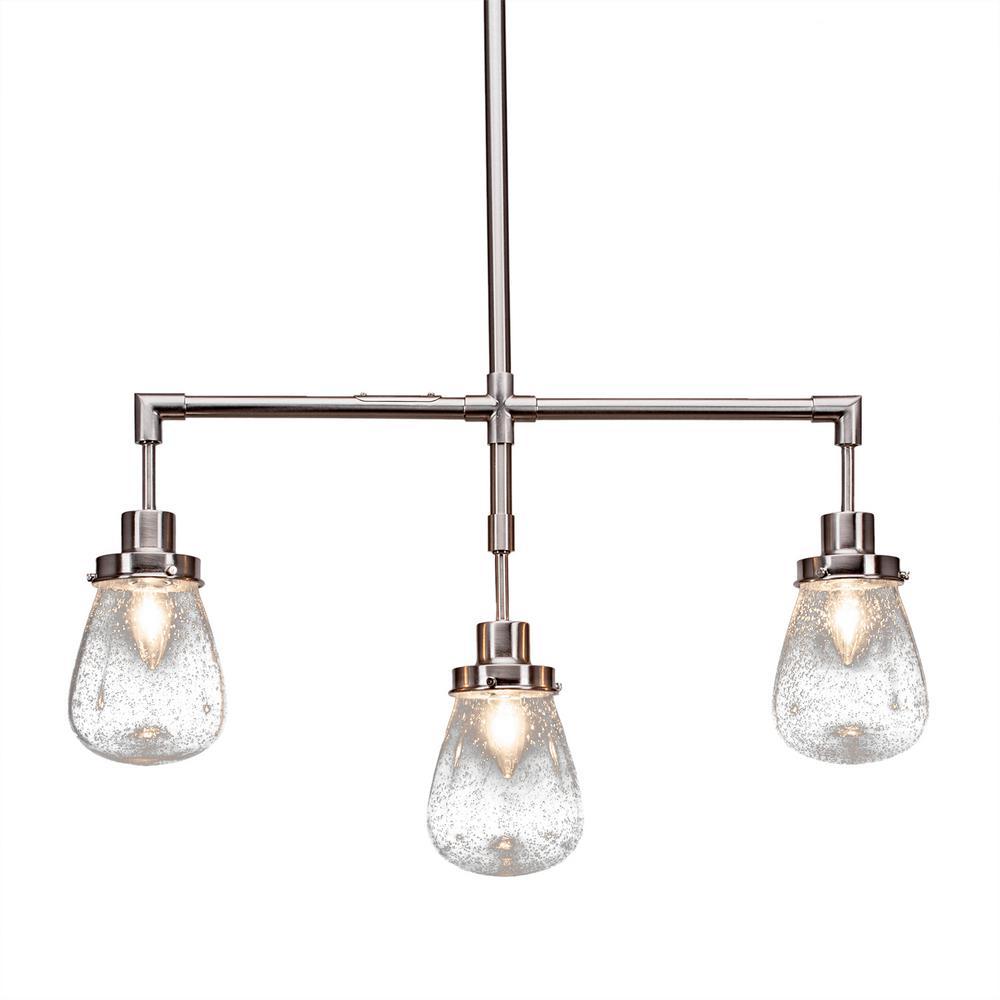 Filament Design 3-Light Brushed Nickel Billiard Light With