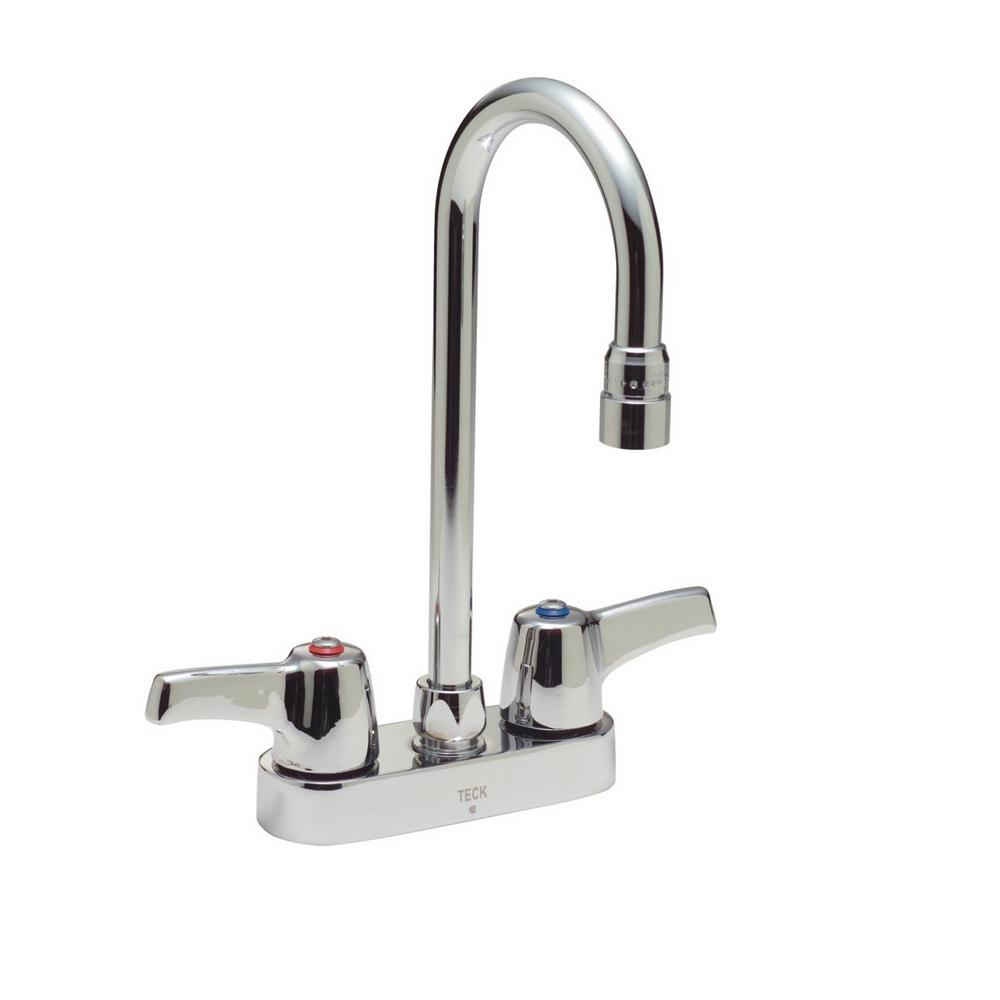Delta Commercial 4 In Centerset 2 Handle Bathroom Faucet