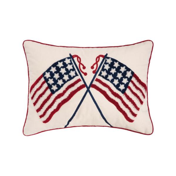 14 in. x 20 in. Double US Flag Pillow