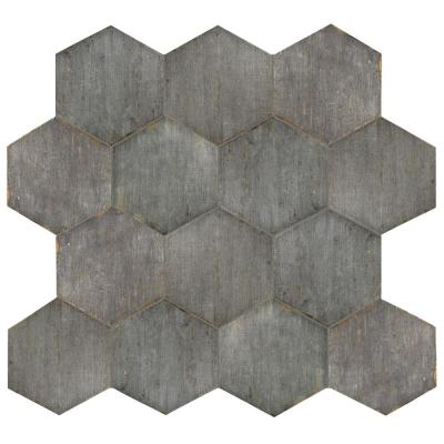 Retro Hex Cendra 14-1/8 in. x 16-1/4 in. Porcelain Floor and Wall Tile (11.05 sq. ft. / case)