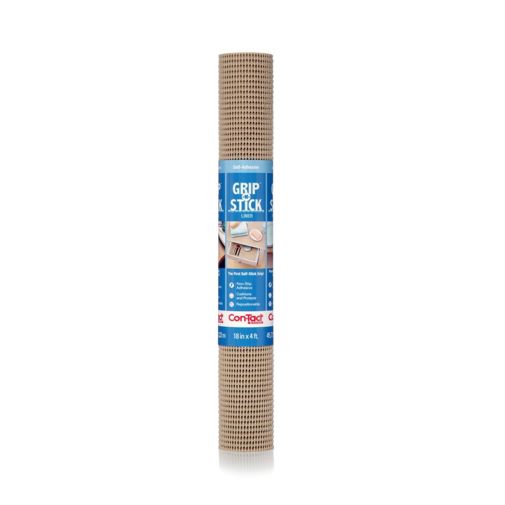Grip-N-Stick Taupe Shelf/Drawer Liner (Set of 6)