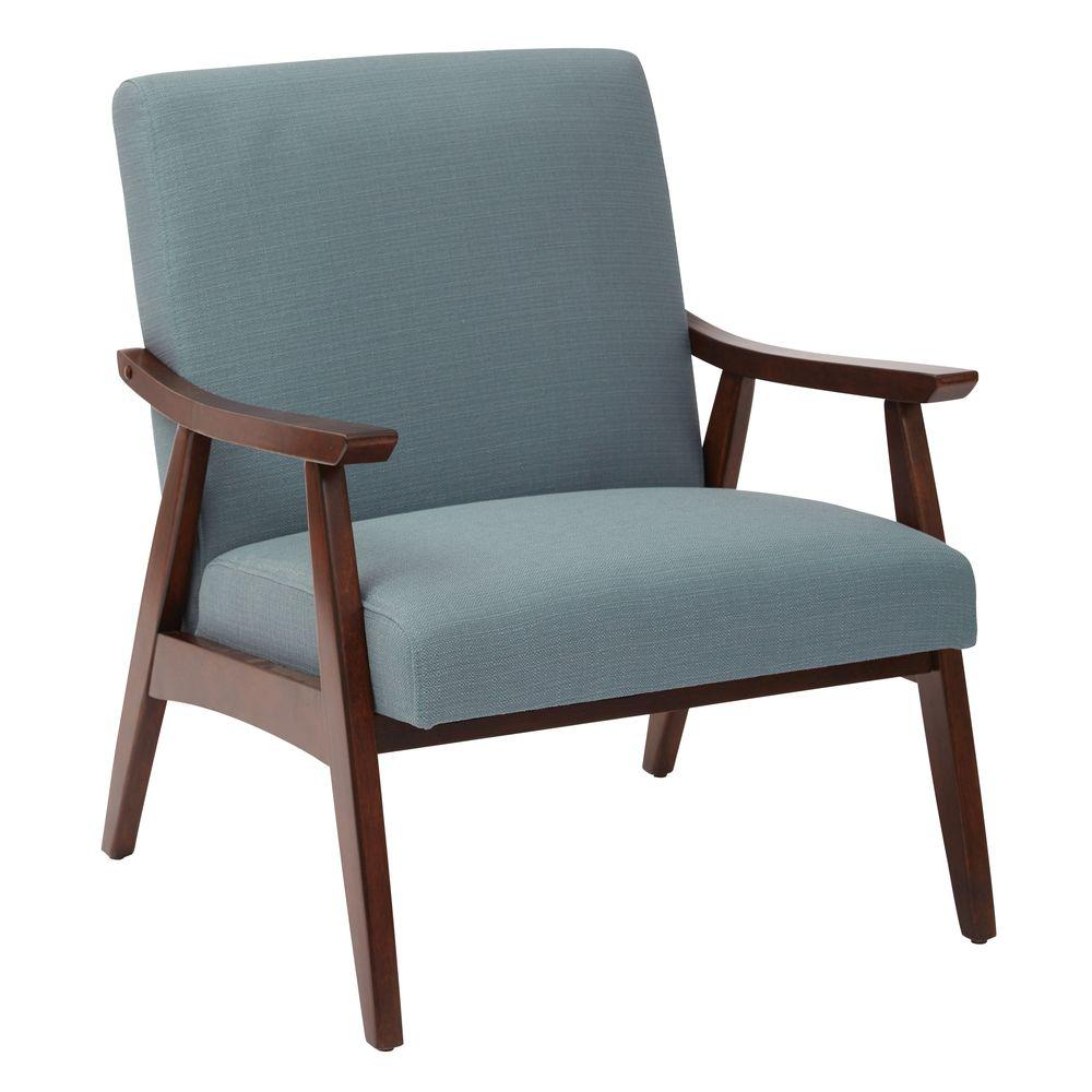 Davis Klein Sea Fabric Arm Chair