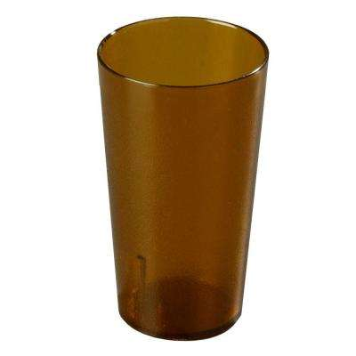 12 oz. SAN Plastic Stackable Tumbler in Amber (Case of 72)