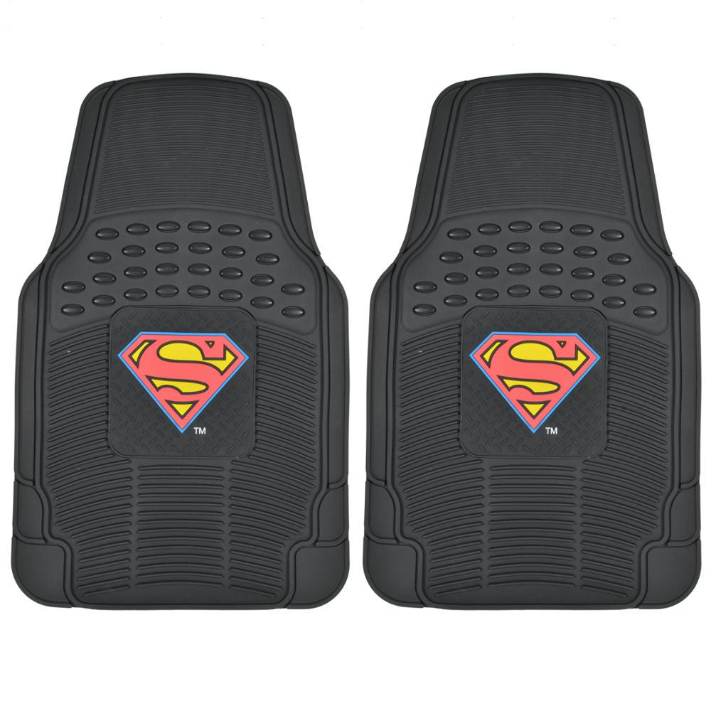 Original Superman WBMT-1672 Rubber 2 Pieces Car Floor Mats