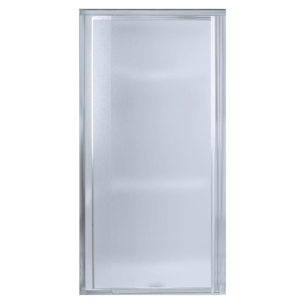 Vista Pivot II 48 in. x 65-1/2 in. Framed Pivot Shower Door in Silver with Handle