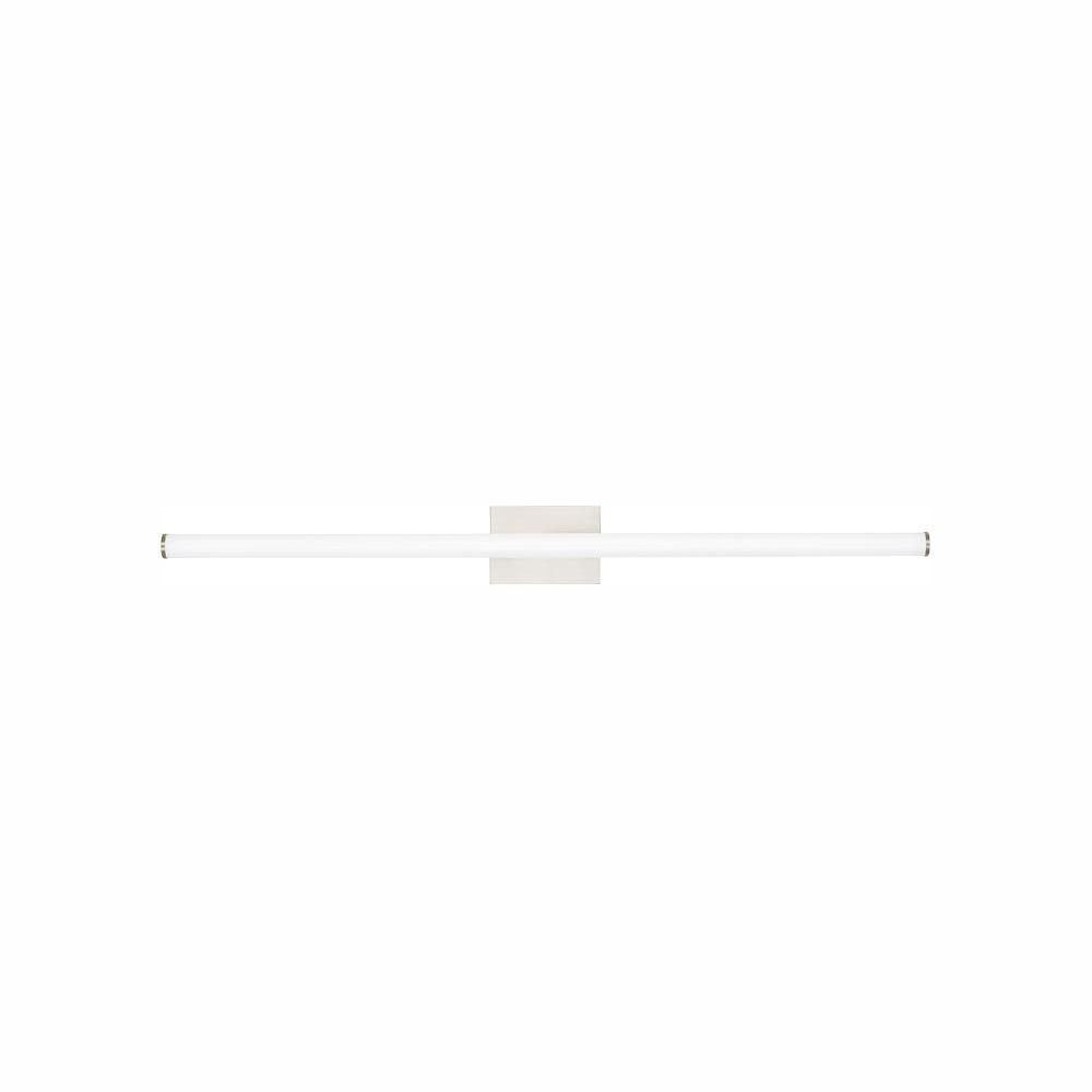 LBL Lighting Lufe Round 48 Bath 46.9-Watt Polished Chrome Integrated LED Bath Light 277-Volt Commercial