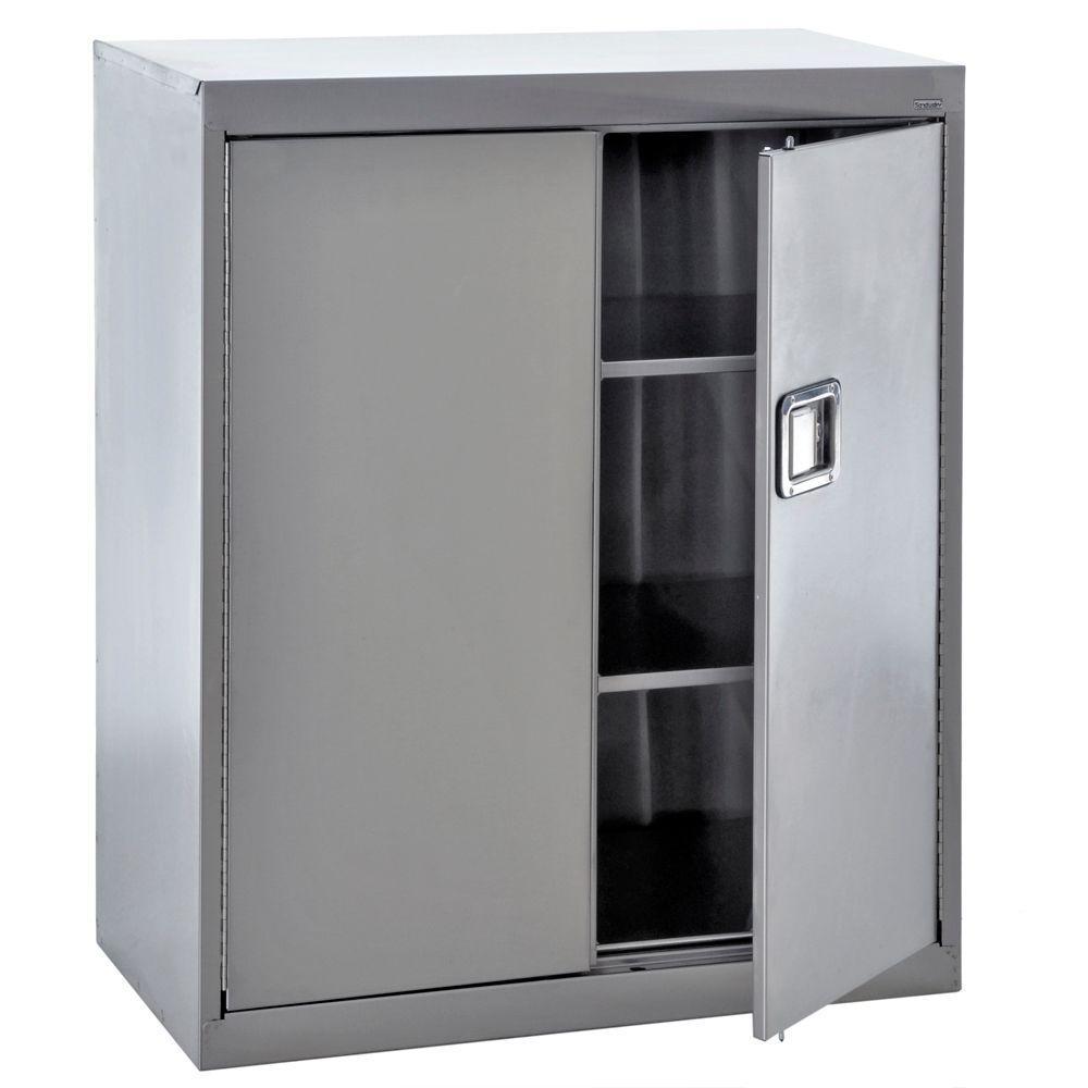 42 in. H x 36 in. W x 18 in. D  sc 1 st  Home Depot & Stainless Steel - Stainless Steel - Garage Cabinets u0026 Storage ...