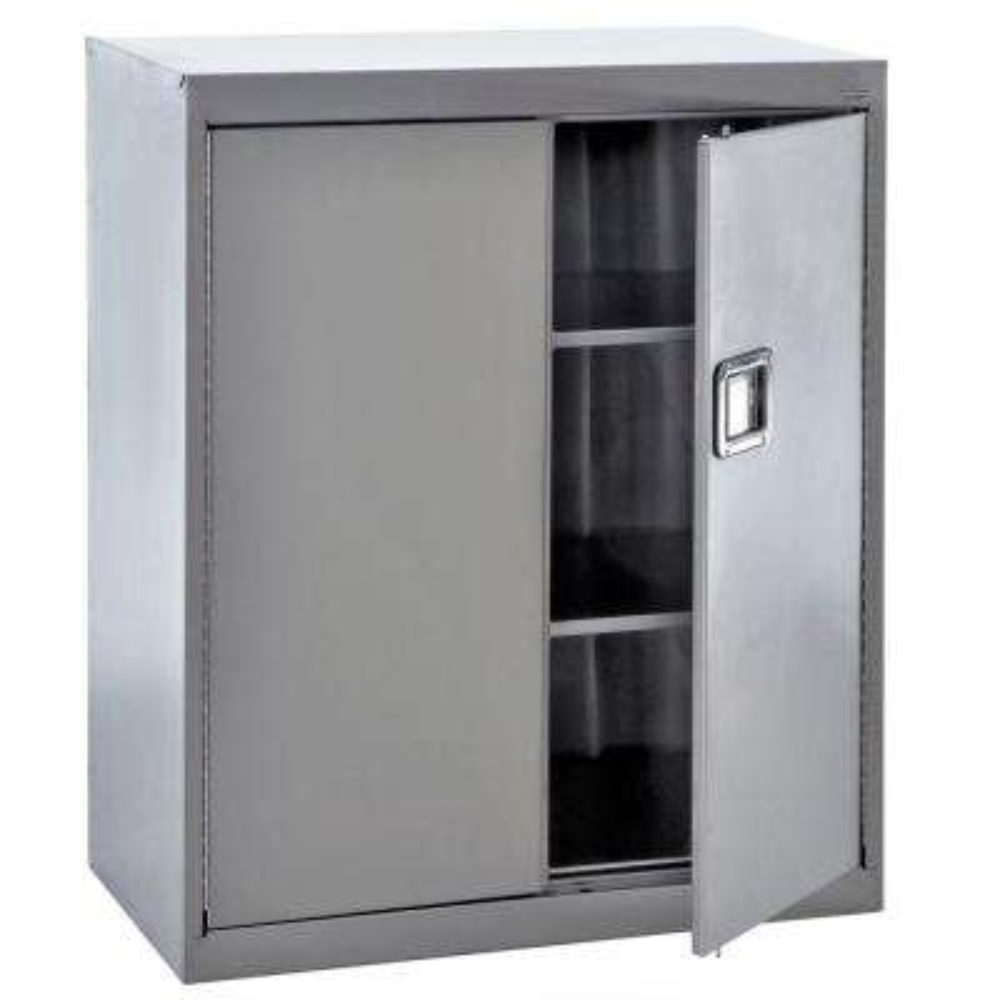 42 in. H x 36 in. W x 18 in. D 3-Shelf Stainless Steel Freestanding Garage Cabinet