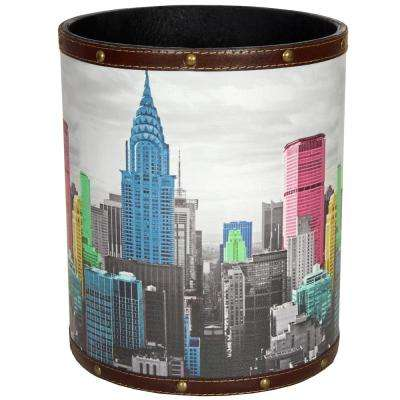 Oriental Furniture 8.25 in. x 10 in. Highlights of New York Waste Basket