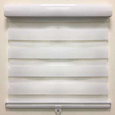 Cut-to-Size White Cordless Light Filtering Semi Sheer Roller Shades 46 in. W x 72 in. L
